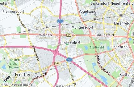 Stadtplan Köln OT Junkersdorf