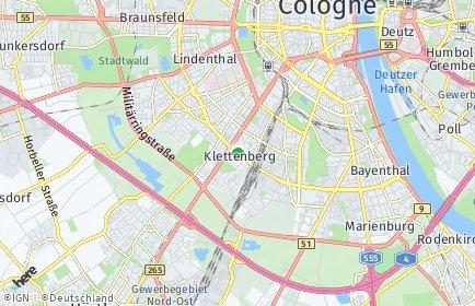 Stadtplan Köln OT Klettenberg