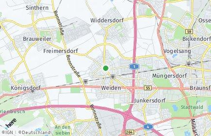 Stadtplan Köln OT Lövenich