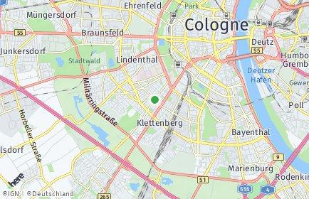 Stadtplan Köln OT Sülz