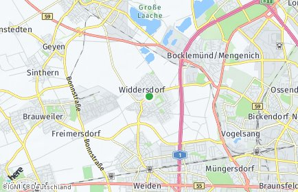 Stadtplan Köln OT Widdersdorf