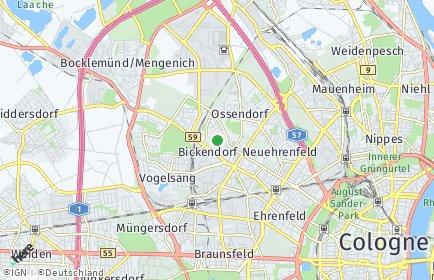 Stadtplan Köln OT Bickendorf