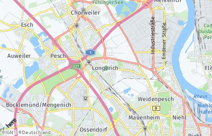 Stadtplan Köln OT Longerich