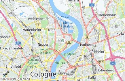 Stadtplan Köln OT Riehl
