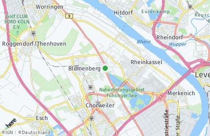 Stadtplan Köln OT Fühlingen