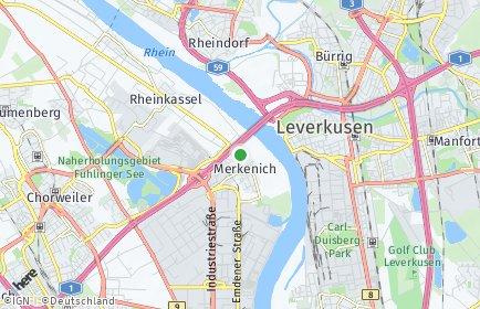 Stadtplan Köln OT Merkenich