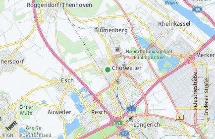 Stadtplan Köln OT Volkhoven/Weiler
