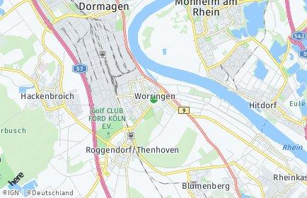 Stadtplan Köln OT Worringen