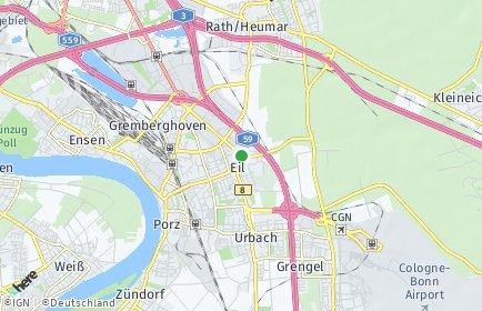 Stadtplan Köln OT Eil