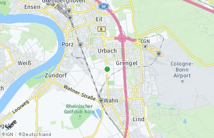 Stadtplan Köln OT Elsdorf