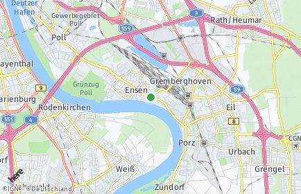 Stadtplan Köln OT Ensen