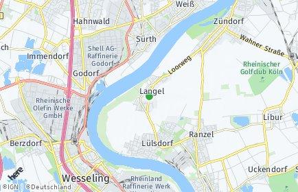 Stadtplan Köln OT Langel
