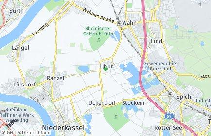 Stadtplan Köln OT Libur