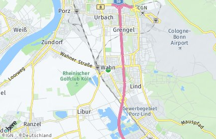 Stadtplan Köln OT Wahn