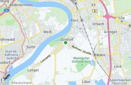 Stadtplan Köln OT Zündorf