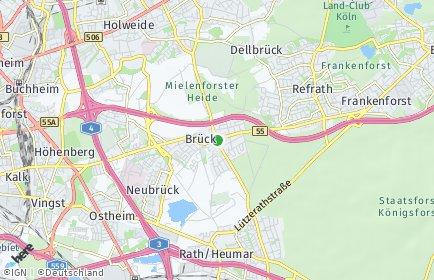 Stadtplan Köln OT Brück