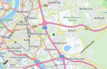 Stadtplan Köln OT Merheim