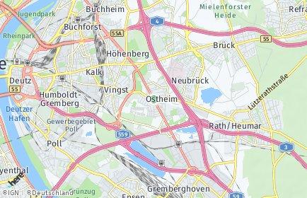 Stadtplan Köln OT Ostheim