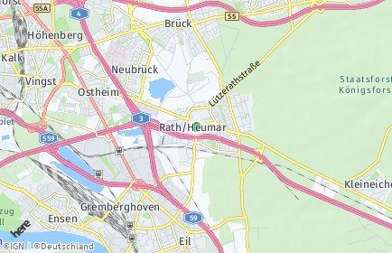 Stadtplan Köln OT Rath/Heumar