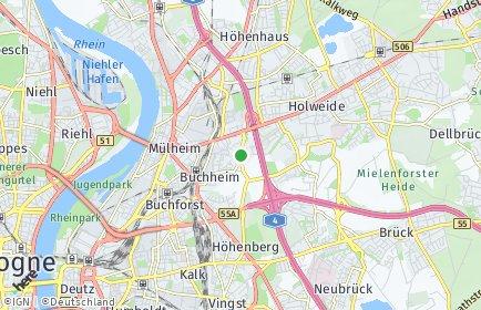Stadtplan Köln OT Buchheim