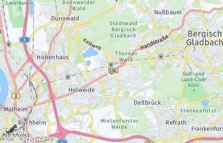 Stadtplan Köln OT Dellbrück