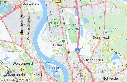 Stadtplan Köln OT Flittard