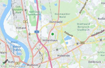 Stadtplan Köln OT Höhenhaus