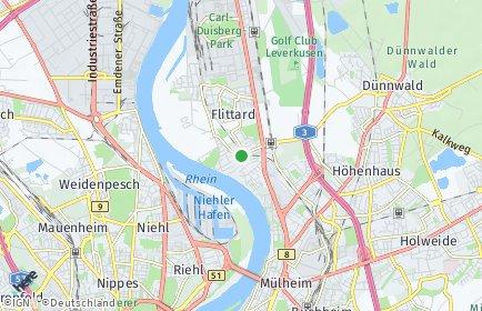 Stadtplan Köln OT Stammheim