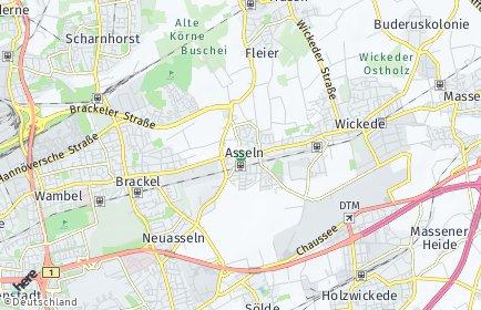 Stadtplan Dortmund OT Asseln