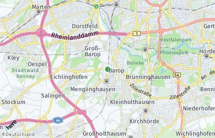 Stadtplan Dortmund OT Barop