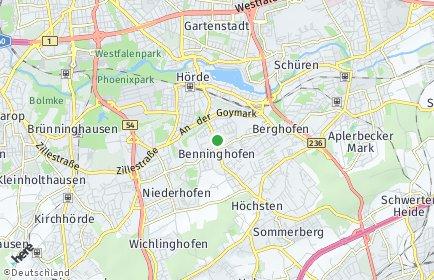 Stadtplan Dortmund OT Benninghofen