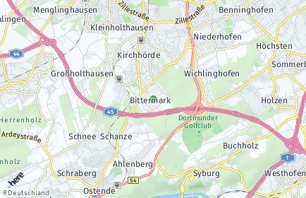 Stadtplan Dortmund OT Bittermark