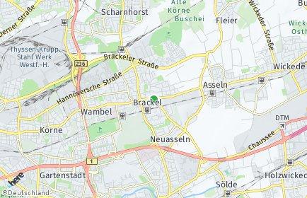 Stadtplan Dortmund OT Brackel