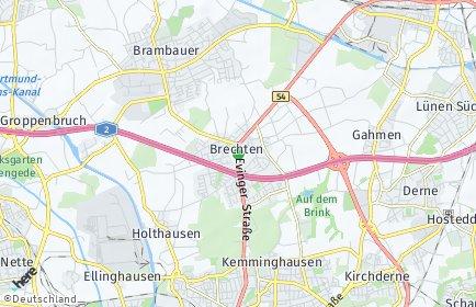 Stadtplan Dortmund OT Brechten