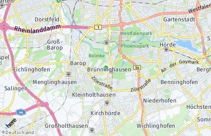 Stadtplan Dortmund OT Brünninghausen