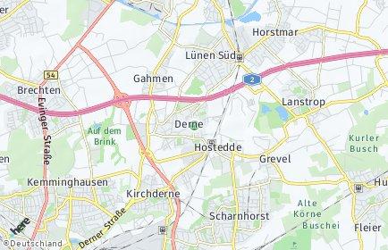 Stadtplan Dortmund OT Derne