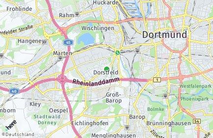Stadtplan Dortmund OT Dorstfeld