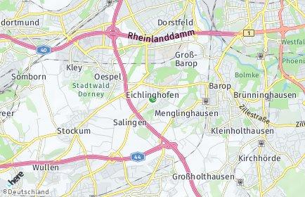 Stadtplan Dortmund OT Eichlinghofen