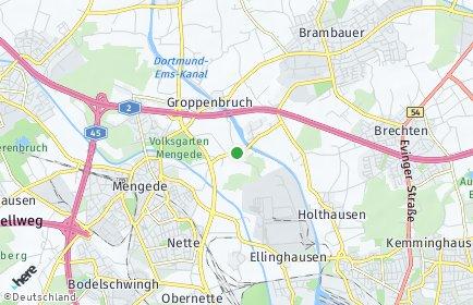 Stadtplan Dortmund OT Ellinghausen