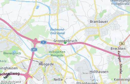 Stadtplan Dortmund OT Groppenbruch