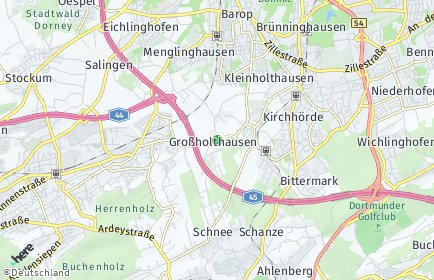 Stadtplan Dortmund OT Großholthausen