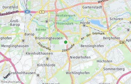 Stadtplan Dortmund OT Hacheney