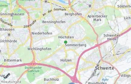 Stadtplan Dortmund OT Höchsten