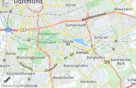 Stadtplan Dortmund OT Hörde
