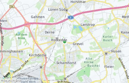 Stadtplan Dortmund OT Hostedde