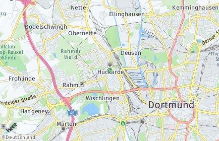 Stadtplan Dortmund OT Huckarde