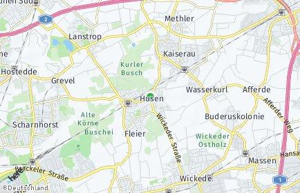 Stadtplan Dortmund OT Husen