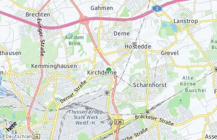 Stadtplan Dortmund OT Kirchderne