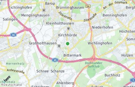 Stadtplan Dortmund OT Kirchhörde