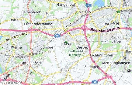 Stadtplan Dortmund OT Kley